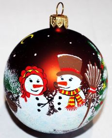 50 Exclusive hand-painted Christmas baubles made of glass