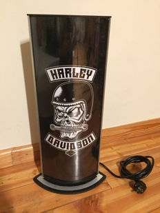 Large Harley Davidson lightbox - illuminated advertising sign - XXL dealer sign - 53 x 20 x 8 cm - late 1990s