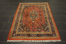 Oriental carpet, Indo Tabriz Bijar 120 x 175 cm, made in India at the end of the last century
