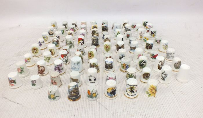 Collection of 188 Bone China THIMBLES