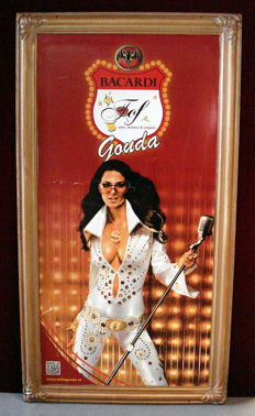 Very large Bacardi Rum wall decoration / advertising - 'Tof Gouda' - 2nd half of 20th century