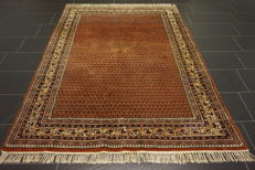 Magnificent hand-knotted oriental palace carpet, Sarouk Mir 170 x 230 cm, made in India, fantastic highland wool