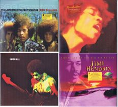 Jimi Hendrix - lot of 8 LP's in Mint condition: BBC Sessions (3 LP's), Electric Ladyland (2 LP's), Band Of Gypsys (1 LP), Final Studio Recordings (2 LP's)