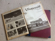 Complete 1st year of magazine Vliegwereld, 53 issues, bound