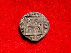 Spain - Alfonso X (1252–1284) billon ovol (0.44 g, 14 mm), no mint mark.