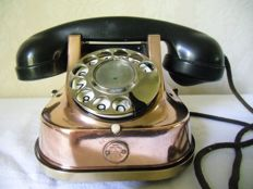 Beautiful copper telephone brand RTT 56 A - Belgium - mid 20th century