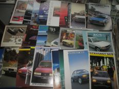 Car brochures (Peugeot, including 104/305/505/604, 29x, 1977-2000)