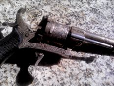 Revolver gun of the Lefaucheux type Very rare, 20th century