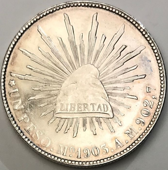 Republica Mexicana - Un Peso 1903 - Silver Coin - Prooflike