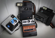 Kodak - 4 Instant Camera The Handle K2 , EK 100 , EK 160 EF & Kodamatic 950 (lot of 4 cameras)