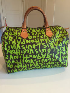 Louis Vuitton - Speedy 30 Graffiti Handbag Stephen Sprouse - limited edition