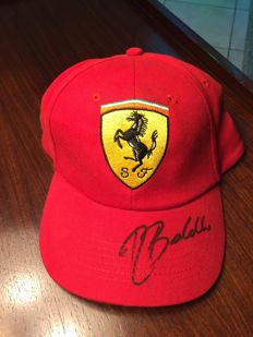 Ferrari cap signed by Rubens Barrichello