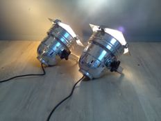 Set of professional theatre spotlights - Gallery Lamps / aluminum
