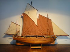 French logger - fishing boat - wooden ship model