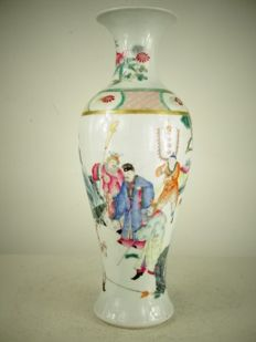 A very fine famille rose vase - China - Republic period (1912-1949)