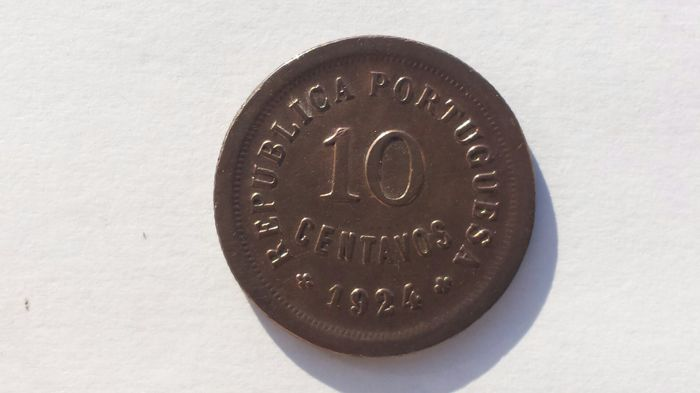 Portugal, Republic – 10 Centavos - 1924 – Bronze