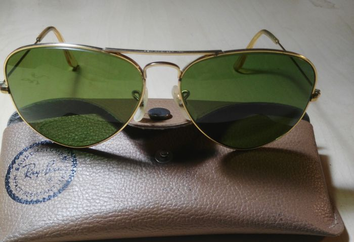 f9a7e87a203f9 Ray-Ban Bausch   Lomb Aviator Retro Vintage - Impact Resistant Lenses -  Unisex