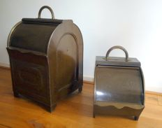 Sheet metal and copper wood bins, 1890-1900