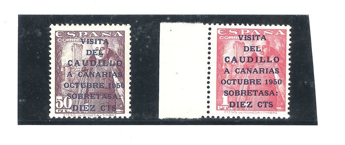 Spain 1951 - Caudillo's visit to the Canary Islands - Edifil 1088/1089