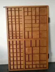 Wooden typecase very large and beautiful in colour, second half 20th century