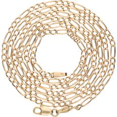 14 kt – Yellow gold Figaro link necklace – Length: 64 cm