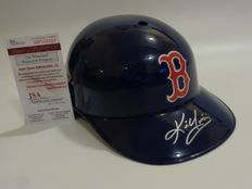 Boston Red Sox hitting helmet signed by MLB star Kevin Youkilis with JSA certificate