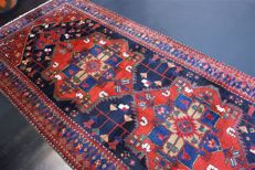 Hand-knotted original Persian carpet, oriental Kurdi, approx. 270 x 210 cm, good condition, Iran