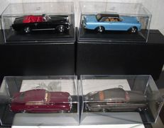 Oxford / Yatming - Scale 1/43 - Lot of 4 Bentley models: 2 x Bentley S1 Continental Fastback, & Bentley S2 Continental Drophead Coupé Park Ward