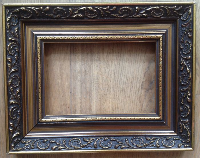 740c8097275 Four gold-plated wooden ornamental painting frames - Catawiki