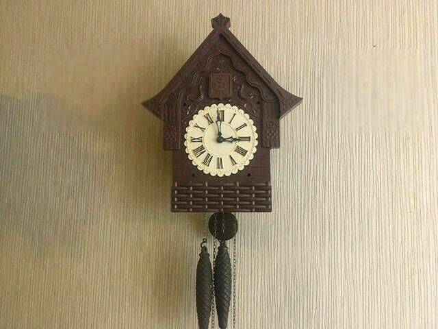 USSR Mechanical wall clock with a cuckoo with a strikes the hours - Majak - USSR 1975