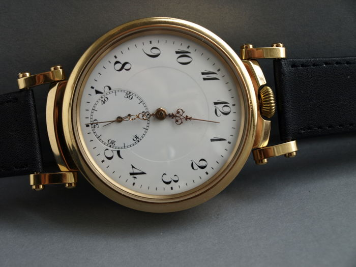 43. Revue Thommen men's marriage wristwatch 1905-1910