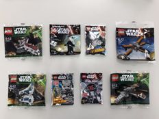 Star Wars - 30240 + 30241 + 30242 + 30278 + First Order General + Imperial Combat Driver Limited Edition + Tie Bomber Limited Edition + Probe Droid Limited Edition - Rare Polybags