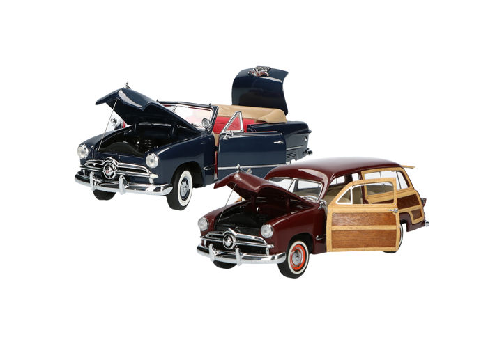 Franklin Mint - Scale 1/24 - Ford custom Cabrio & Ford Woody