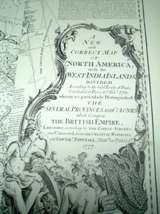 Facsimile; Thomas Jefferys - The American Atlas, London 1776 - 1974