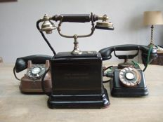 Three old phones for decoration, early and mid last century