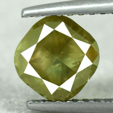 NO RESERVE PRICE - Diamond - 1.63 ct, Natural Fancy Greenish Yellow I1