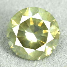 Diamond - 1.26 ct, Natural Fancy Intense Yellowish Green SI2