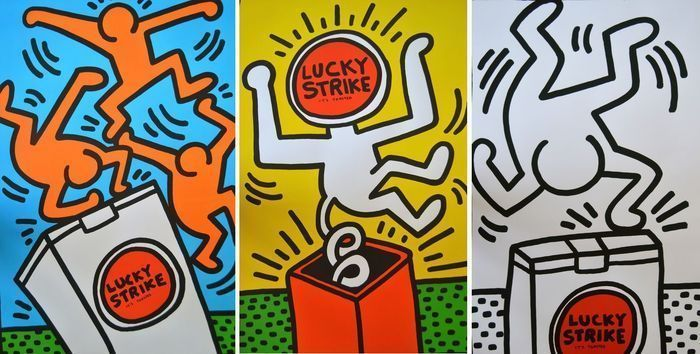 Keith Haring - Lucky Strike 3x