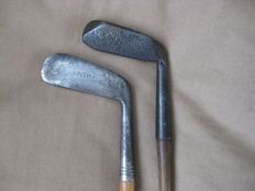 2 Hickory golf putters