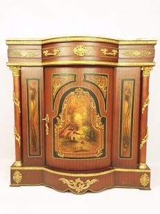 A Napoleon III style buffet with painted image, second half of 20th century