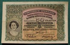 Switzerland - 50 francs 1920 - Pick 5d
