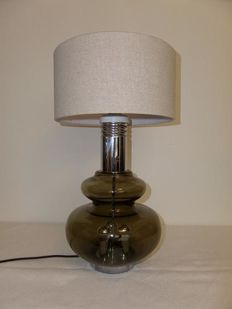 Doria Leuchten - Table lamp in smoked glass.
