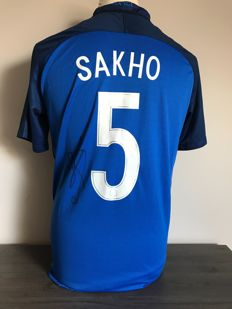 Mamadou Sakho signed France home shirt 2016-2017 with photo of the moment of signing and COA
