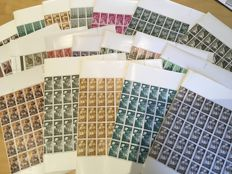 Spanish Colonies 1955/1960 - Set of complete series in sheets.