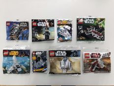 Star Wars - 3219 + 30050 + 30242 + 30246 + 30611 + First Order General + Star Destroyer/Tie Fighter Limited Edition + Tie Advanced Limited Edition - Rare Polybags