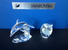Swarovski - dolphin on wave - owl large