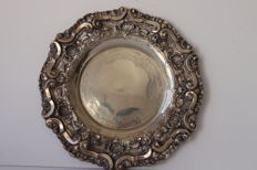 A large silver tray - Portugal - 20th century