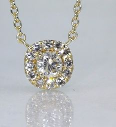 Pendant with diamonds of  0.25 ct in total. *** no minimum price ***