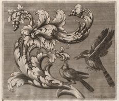 Cesare Domenichi (active 1589-1614) - Acanthus leaf with birds - Ca. 1610
