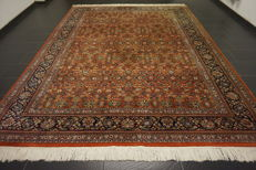 Magnificent hand-knotted oriental carpet, Indo Nain Qom, 280 x 360 cm, made in India, very good condition